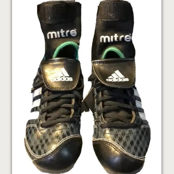Adidas sports cleats & Mitre ankle support size 1Y